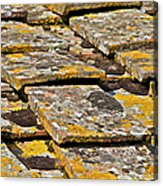 Aged Roof Tiles Of Tuscany Acrylic Print