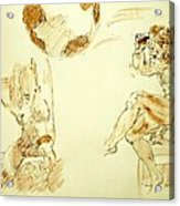 Agony And Atlas Sketch Watercolor Throwing The World As He Transforms Life From A Burden To Freedom Acrylic Print