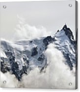 Aiguille Du Midi Out Of Clouds Acrylic Print by Thomas Pollin