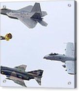 Air Force Heritage Flight Luke Afb March 19 2011 Acrylic Print