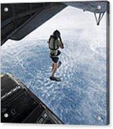 Air Force Pararescueman Jumps Acrylic Print