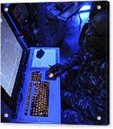 Air-traffic Controller Tracks Incoming Acrylic Print