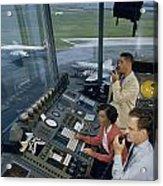 Air Traffic Controllers Direct Traffic Acrylic Print