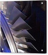 Aircraft Engine Fan Blades. Acrylic Print