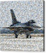 Airforce F-4866 Mosaic  Acrylic Print by Darleen Stry