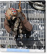 Airman Carries Chains To The Flight Acrylic Print