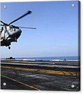 Airman Directs An Eh-101 Merlin Acrylic Print