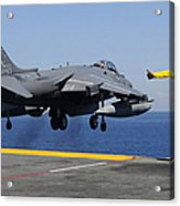 Airman Gives The Thumbs-up Signal As An Acrylic Print