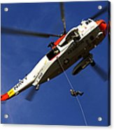 Airman Practices Rappelling Acrylic Print