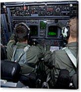 Airmen At Work In A Mc-130h Combat Acrylic Print