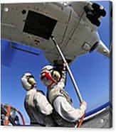 Airmen Attach Pallet Rigs To An Sa-330j Acrylic Print
