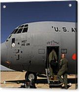 Airmen Board A C-130j Hercules At Dyess Acrylic Print