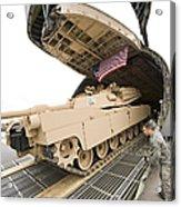 Airmen Load A Tank Into A C-5m Super Acrylic Print