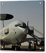 Airmen Prepare A U.s. Air Force E-3 Acrylic Print