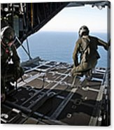 Airmen Wait For The Signal To Deploy Acrylic Print