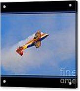 Airplane In Flight Acrylic Print