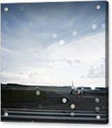 Airplane On Runway Acrylic Print