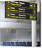 Airport Directional Signs Acrylic Print