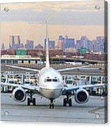 Airport Overlook The Big City Acrylic Print by Mike McGlothlen