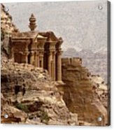 Al-deir (monastery) Acrylic Print by Cute Kitten Images