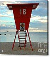 Ala Moana Lifeguard Station Acrylic Print