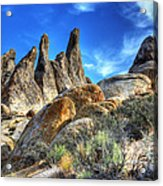 Alabama Hills Granite Fingers Acrylic Print by Bob Christopher