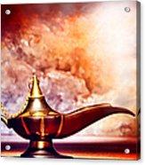 Aladdin Lamp Acrylic Print