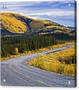 Alaska Highway Near Beaver Creek Acrylic Print