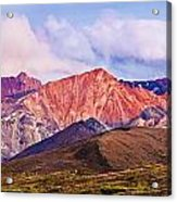 Alaska Range And Fall Colours Acrylic Print
