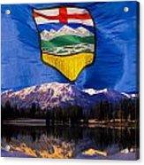 Albertas Rocky Mountains Acrylic Print