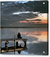 Albufera. Couple. Valencia. Spain Acrylic Print