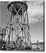 Alcatraz Penitentiary Water Tower Acrylic Print