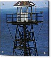 Alcatraz Watch Tower Acrylic Print by Paul W Faust -  Impressions of Light