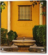 Alcazar Fountain In Spain Acrylic Print
