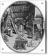 Alchemists Laboratory, 1595 Acrylic Print by Science Source
