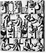 Alchemy Preparations, 17th Century Acrylic Print