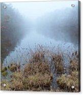 Alcotts Pond In Fog Acrylic Print