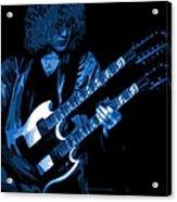 Doubleneck Spokane 1978 Blue Acrylic Print