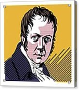 Alexander Von Humboldt, German Naturalist Acrylic Print
