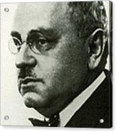 Alfred Adler, Austrian Psychologist Acrylic Print