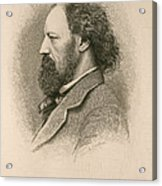 Alfred, Lord Tennyson, English Poet Acrylic Print