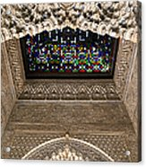 Alhambra Stained Glass Detail Acrylic Print by Jane Rix