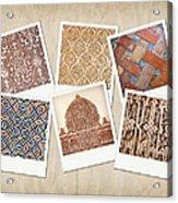 Alhambra Textures Acrylic Print by Jane Rix