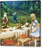 Alice In Wonderland Acrylic Print by Jutta Maria Pusl