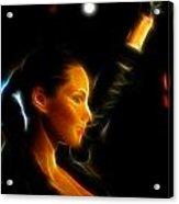 Alicia Keys - Singer Acrylic Print by Lee Dos Santos