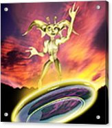 Alien And Flying Disc Acrylic Print