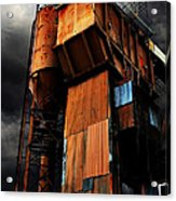 Alive And Well In America . The Old Concrete Plant In Berkeley California . 7d13967 Acrylic Print