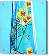 Alive Flowers Acrylic Print by Sonya Ragyovska