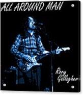All Around Man Blues Square Acrylic Print