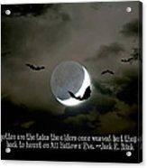 All Hallows' Eve Acrylic Print